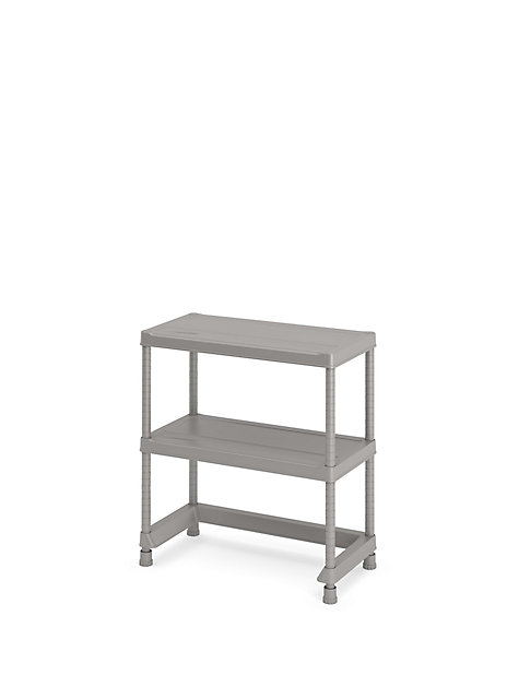 Etagere En Plastique Gris 2 Tablettes Major Castorama