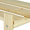 Étagère bois 4 tablettes L.65 x H.130 x P.30 cm