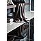 Carreau de sol Livourne 60 x 60 cm Noir (Vendu au carton)