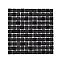 Mosaïque noir et gris 30 x 30 cm Genovia