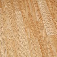 Sol stratifié à clipser chêne naturel - L.129 x l.19.4 cm