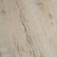 Sol stratifié à clipser Brisbane Naturel 8 mm - L.129 x l.19.4 cm