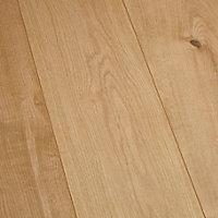 Sol stratifié à clipser Gladstone Chêne moyen 8 mm - L.129 x l.16 cm