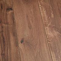 Sol stratifié à clipser Gladstone Chêne fonce 8 mm - L.129 x l.19.4 cm