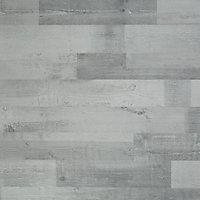 Sol stratifié à clipser Rockhampton Gris 7 mm (vendu à la botte) - L.138 x l.19.3 cm