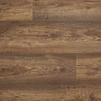 Sol stratifié à clipser Tamworth brun 7 mm - L.138 x l.19.2 cm