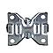 Roulette fixe à platine fixe ø125 mm