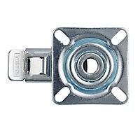 Roulette platine pivotante + frein diamètre 5 cm