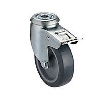 Roulette pivotante à tige filetée ø75 mm