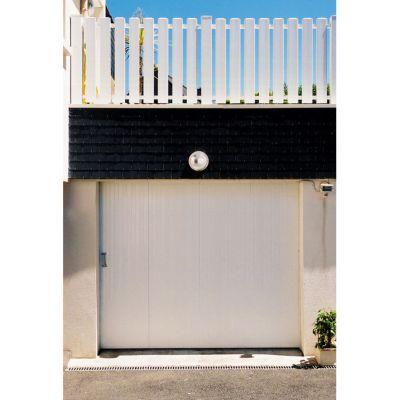 Porte de garage coulissante pvc x cm castorama for Porte garage automatique castorama