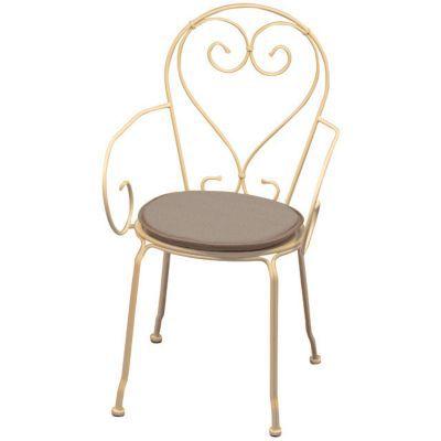 Galette de chaise ronde Peps taupe ø38 cm  ép.30 mm