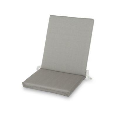 Coussin de chaise / fauteuil Aqua taupe chiné 92 x 45 cm