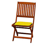 Galette de chaise carrée Peps gentiane 38 x 38 cm, ép.30 mm