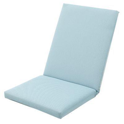 Coussin de chaise / fauteuil Aqua bleu chiné 92 x 45 cm