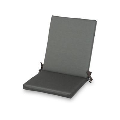 Coussin de chaise / fauteuil Aqua carbone 92 x 45 cm