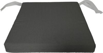 Galette de chaise carrée Florida gris 40 x 40 cm