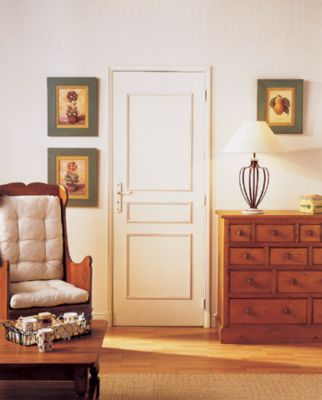 kit de porte 3 panneaux droits 21 x 8 mm castorama. Black Bedroom Furniture Sets. Home Design Ideas