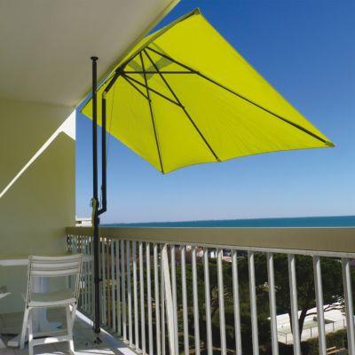 Parasol de balcon COULEURS DU MONDE Léo anis 300 x 150 cm
