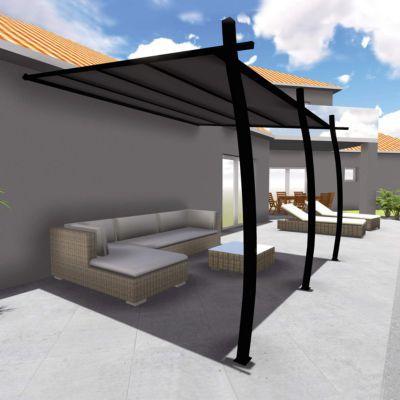 structure tonnelle solea 3 35 x 4 m castorama. Black Bedroom Furniture Sets. Home Design Ideas