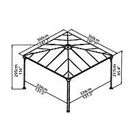 Tonnelle Couv'Terrasse® 3,6 x 3,6 m