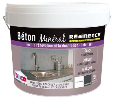 Enduit Bton Minral RESINENCE Gris Ardoise 6kg