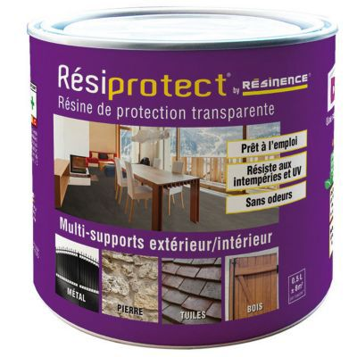 Resine de protection RESIPROTECT incolore 0,5L   Castorama