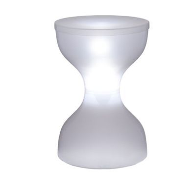 Tabouret solaire LED blanc   Castorama