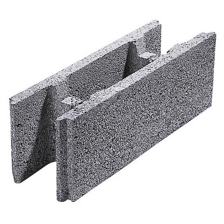 Parpaing A Bancher Creux Beton 20 X 20 X 50cm Castorama