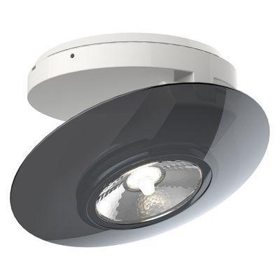 Plafonnier spot en saillie PVC noir LED 40W
