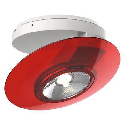 Plafonnier spot en saillie PVC rouge LED 40W