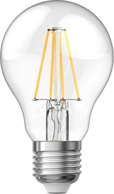 5 ampoules LED à filament A60 E27 IP20 806lm 60W Blanc chaud Xanlite