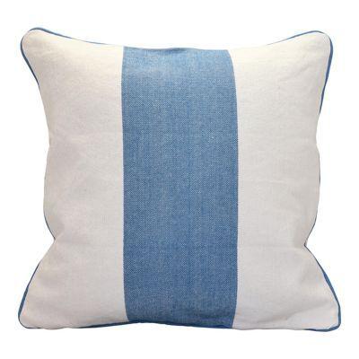 - Modèle : Siam blanc - Utilisation : Intérieur - Dimensions (cm) : 45 x 45 cm - Matière : Coton - Coloris : Blanc/bleu - Motif : Faux uni - Forme : Carré - x - Déhoussable : Oui - Lavable : Machine à laver -