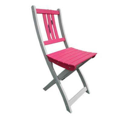 Chaise de jardin en bois Burano fuschia
