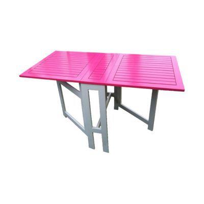 Table console de jardin en bois Burano fuchsia