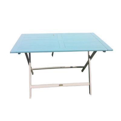 Table de jardin en bois Burano 113 x 65 cm bleu