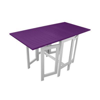 Table console de jardin en bois Burano aubergine