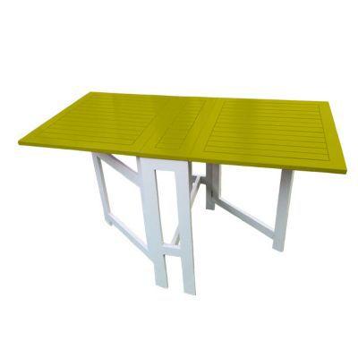 Table console de jardin en bois Burano anis