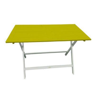 Table de jardin en bois Burano 113 x 65 cm anis