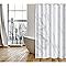 Rideau de douche tissu blanc décor marbre L.180 x H.200 cm Toscana