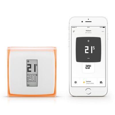 Thermostat NETATMO. Le - thermostat Netatmo - vous permettra de contrôler votre chauffage à distance, depuis n'importe quel endroit et depuis n'importe quel appareil dès que l'application y est installée. Il vous fera économiser de l'énergie et réduira vo