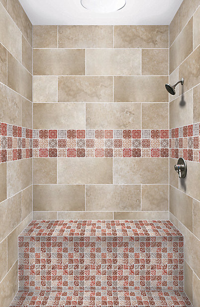 Mosaique Baroque Marron 30 5 X 30 5 Cm Castorama