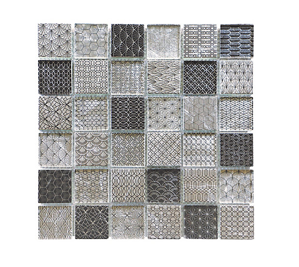 Mosaique Tennessee Noir Et Blanc 4 8 X 4 8 Cm Castorama