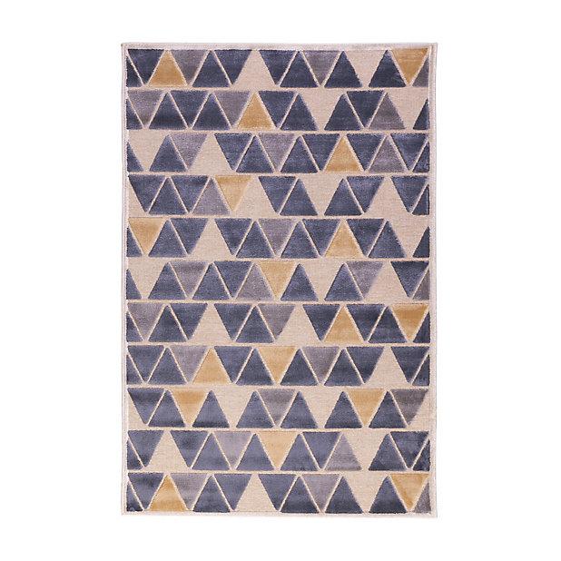 Tapis Vision Petits Triangles 150 X 200 Cm Castorama
