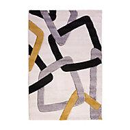 Tapis Design anneaux 100 x 150 cm