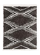 Tapis Scandi Tribal 150x200 cm gris