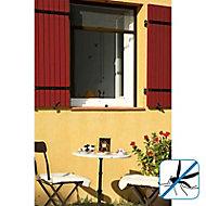 Moustiquaire de fenêtre enroulable en alu marron Kocoon 100 x h.170 cm