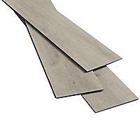 Lame composite clipsable Hina décor bois naturel 122 x 18 cm (vendue au carton)