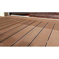 Lame terrasse composite Greendeck R chocolat L.260 x l.14,6 cm