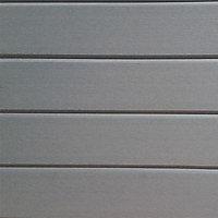 Clin pour bardage composite Greenwall Clin Clic gris - L.2,6 m