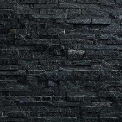 plaquette de parement slimstone quarzite noir vendue au carton castorama. Black Bedroom Furniture Sets. Home Design Ideas